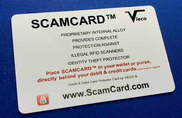 SCAMCARD™ is The FIREWALL for your WALLET™